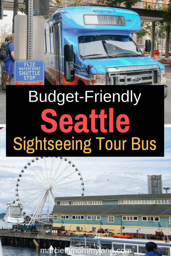 Looking for a budget-friendly way to explore Seattle? Check out the new Seattle Waterfront Shuttle, which is basically a hop on hop off Seattle tour bus. Click to read more or pin to save for later. www.marcieinmommyland.com #seattlewaterfrontshuttle #seattlewa #seattlewaterfront #budgetfriendlytravel #traveltips #visitseattle