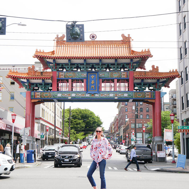 Photo of Seattle Chinatown (also called the International District) near King Street Station and Century Link Field. #chinatown #seattle #internationaldistrict #chinatownseattle #seattleID #seattleneighborhoods