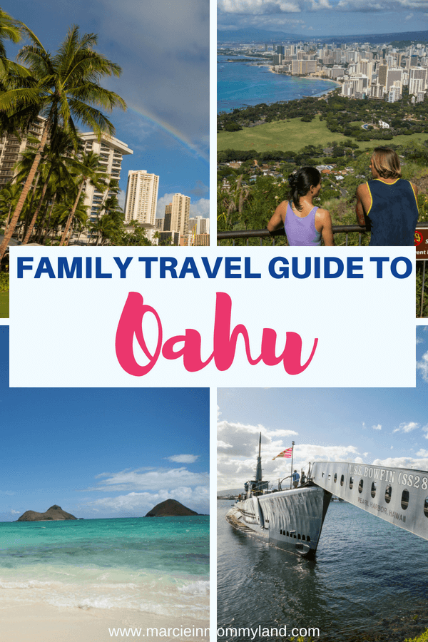 Heading to Oahu with Kids? Find out the best Oahu family resorts, best food on Oahu, things to do in Oahu with kids and more! Click to read more or pin to save for later. www.marcieinmommyland.com #visitoahu #visithawaii #oahu #hawaii #familytravel #travelwithkids #honolulu #waikiki