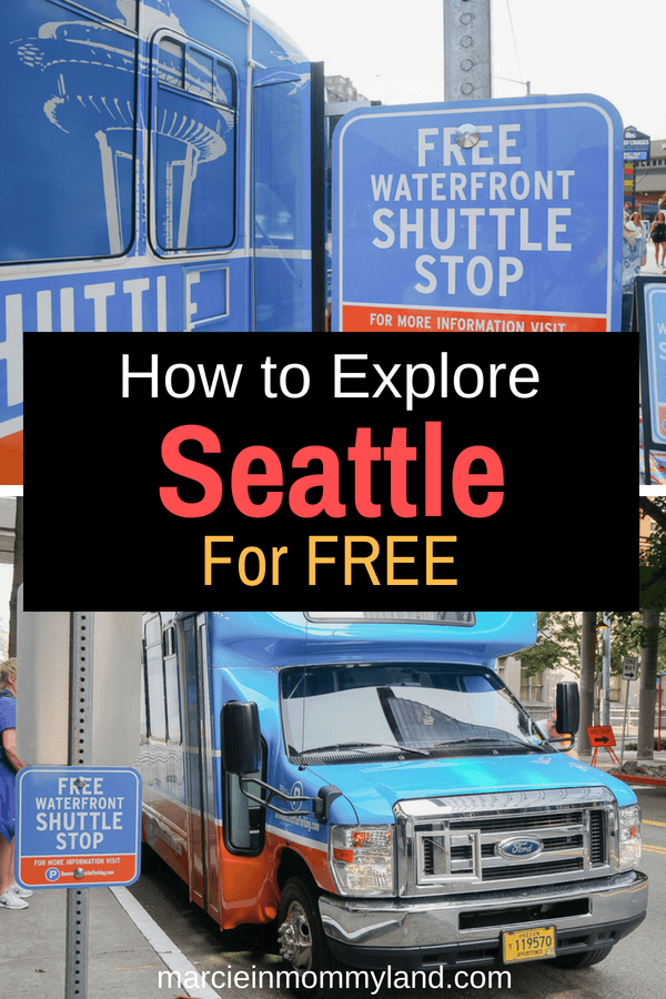 Seattle can be an expensive city to visit, so why not take advantage of the new Seattle Waterfront Shuttle that stops at 9 spots from the Space Needle to Pioneer Square. Click to get the full scoop and find out what to do at each stop or pin to save for later. www.marcieinmommyland.com #seattlewaterfrontshuttle #visitseattle #downtownseattleassociation #seattlewaterfront #pioneersquare #centurylinkfield #olympicsculpturegarden #seattlecenter
