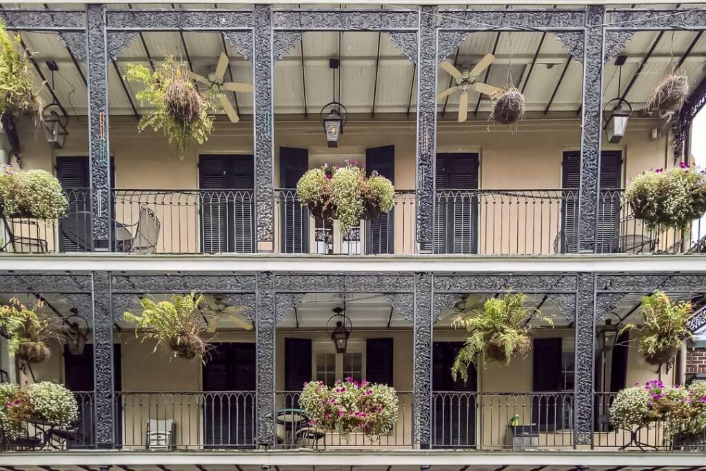 Loft apartment in the French Quarter of New Orleans, a top babymoon destination #neworleans #frenchquarter #babymoon #travelwhilepregnant #louisiana