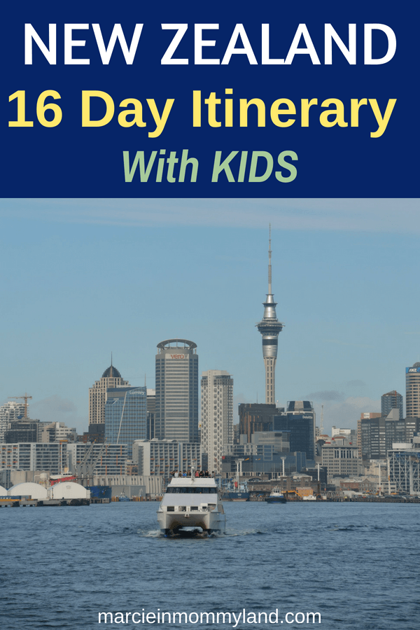 Looking for things to do in New Zealand with kids? Find out in this New Zealand family itinerary including a farm tour to see sheep, train rides, penguin spotting, boat rides (including the TSS Earnslaw), cool kid-friendly museums and more! Click to read more or pin to save for later. www.marcieinmommyland.com #newzealand #newzealandwithkids #familytravel #kiwi #auckland #queenstown