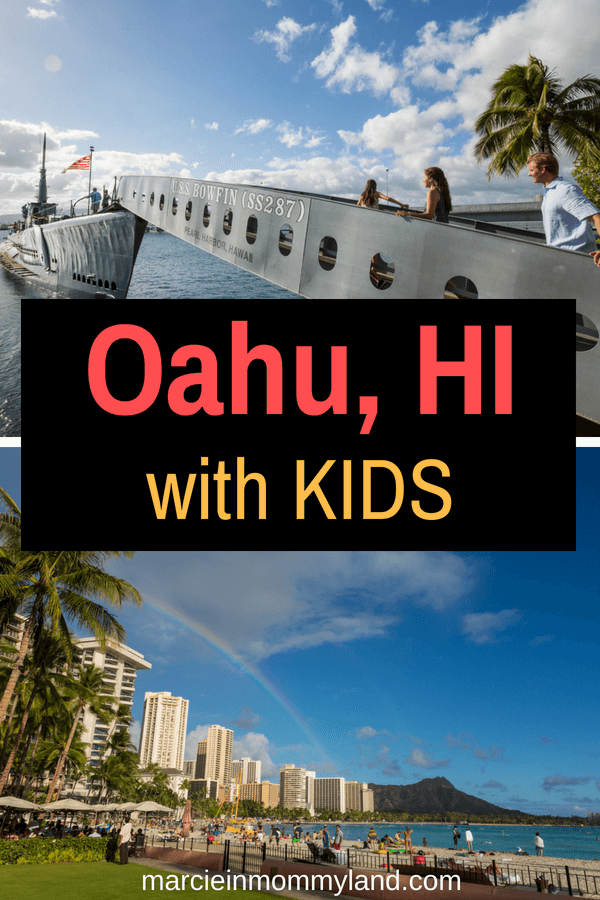 Planning a trip to Oahu with kids? Read my family guide to Oahu, Hawaii featuring the best Oahu food, top Oahu activities for families, where to stay in Oahu with kids, and more! Click to read more or pin to save for later. www.marcieinmommyland.com #oahuwithkids #oahu #hawaii #hawaiian #honolulu #pearlharbor #waikiki #waikikibeach #hawaiianvacation #traveltips #oahutips