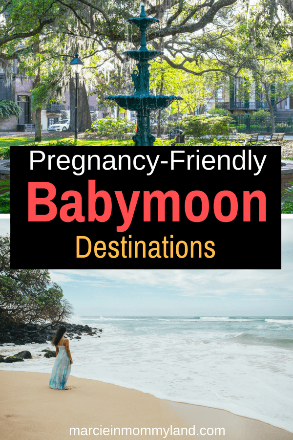 Want to travel while pregnant? Find out the top pregnancy-friendly babymoon destinations in the U.S. and around the world. Click to read more or pin to save for later. www.marcieinmommyland.com #babymoon #pregnancy #pregnant #momtobe #expecting #1sttrimester #2ndtrimester #3rdtrimester