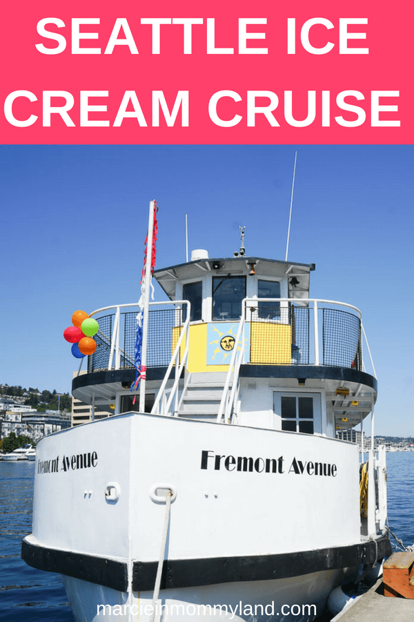 Want a short cruise around Seattle, WA that also sells yummy ice cream treats? Find out all the details for this kid-friendly cruise around Lake Union in Seattle, WA. Click to read more or pin to save for later. www.marcieinmommyland.com #seattle #seattleboat #seattlecruise #seattlewithkids #seattlefamily #seattlekids #seattlemom #familytravel
