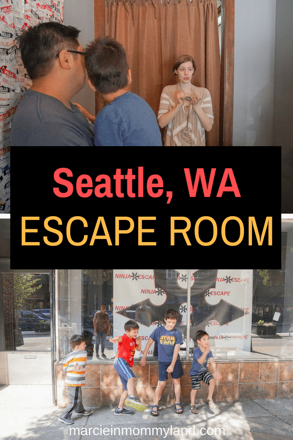 Looking for a fun, indoor thing to do in Seattle, WA? Ninja Escape is a Seattle escape room featuring missions for adults as well as kid-friendly escape rooms. Plus, it's a great Seattle birthday party option! Click to read more or pin to save for later. www.marcieinmommyland.com #seattleescaperoom #ninjaescape #escaperoom #puzzleroom #seattlewa #seattlewashington #washingtonstate