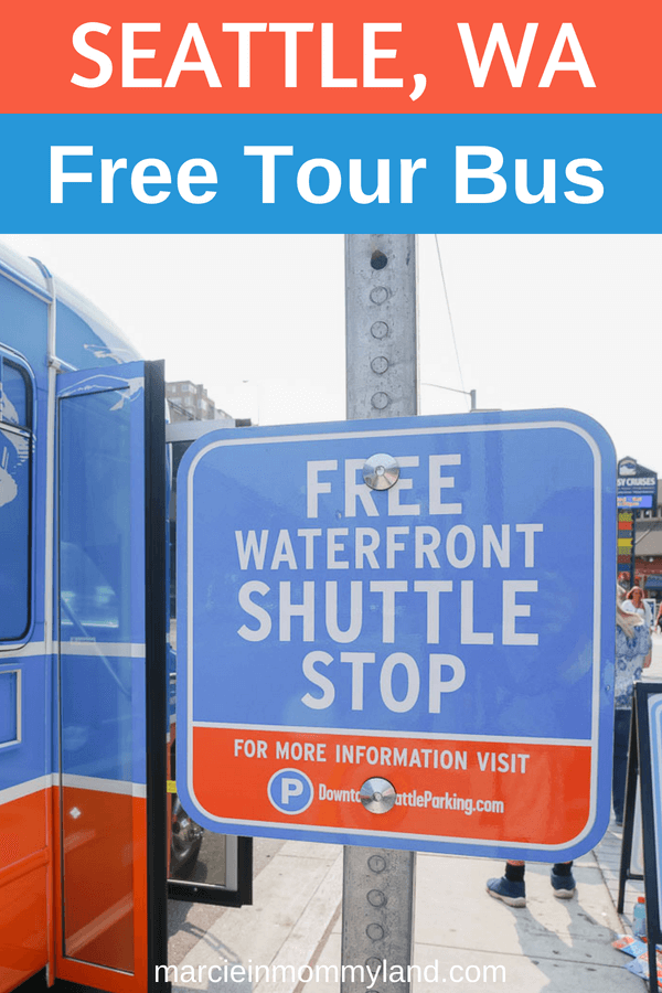 If you are visiting Seattle, make sure to take advantage of the new free Seattle tour bus which stops at 9 top Seattle attractions. Click to read more or pin to save for later. www.marcieinmommyland.com #seattletour #seattletourbus #thingstodoinseattle #seattlewithkids #familytravel #budgettravel