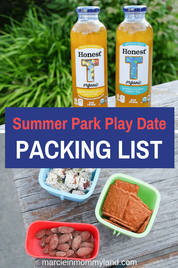 AD Don't forget to pack something for MOM at your next summer park play date. Click to read more or pin to save for later. www.marcieinmommyland.com #MyHonestTea #collectivebias