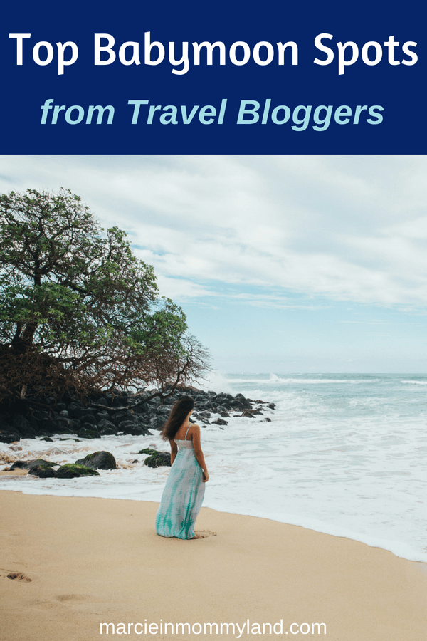 Are you wondering where to go on your babymoon? Travel bloggers share their personal favorite places to travel while pregnant in this post about the top babymoon spots in the world. Click to read more or pin to save for later. www.marcieinmommyland.com #babymoon #maternity #vacation #traveltips #pregnancy #firstrimester #secondtrimester #thirdtrimester