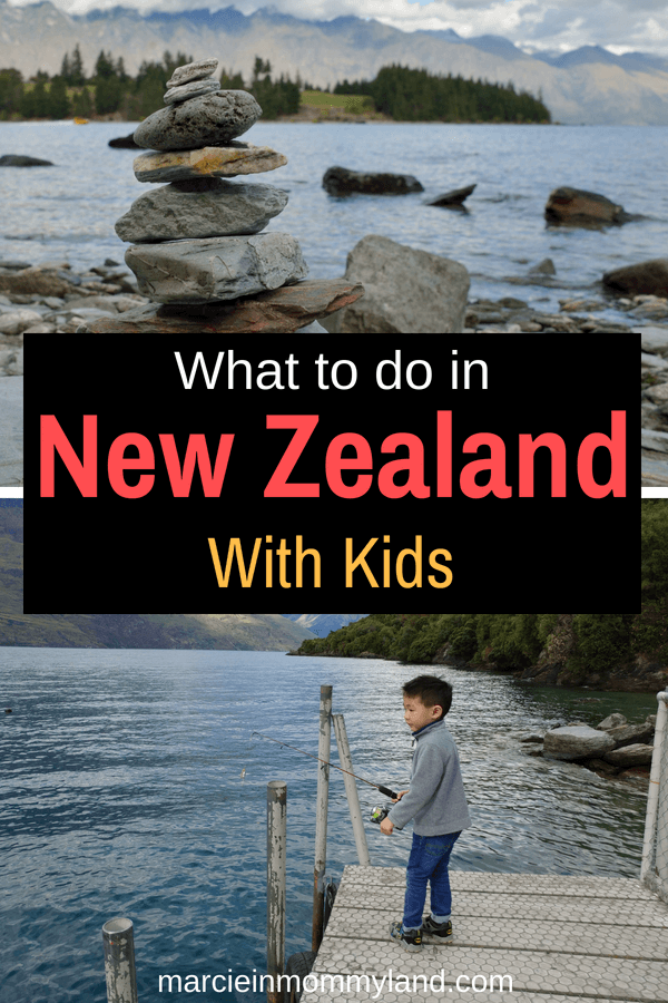 Find out what to do in New Zealand with kids, espcially if they like trains, boats, interactive museums, beaches, penguins and more! Click to read more or pin to save for later. www.marcieinmommyland.com #newzealand #nz #visitnz #visitnewzealand #familytravel #newzealandwithkids