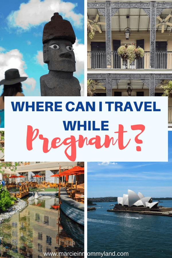 Are you asking where can I travel while pregnant? Don't let pregnancy squash your wanderlust. Click to read about the top pregancy vacation spots or pin to save for later. www.marcieinmommyland.com #travelwhilepregnant #pregnant #babymoon #travelingwhilepregnant #expecting #mama #mom