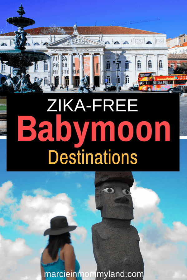 Researching zika-free babymoon destinations? Find out the safest places to travel while pregnant that are AMAZING! Click to read more or pin to save for later. www.marcieinmommyland.com #babymoon #zikafree #travelwhilepregnant #pregnanttravel #pregnant #pregnancy #maternity #babymoondestinations