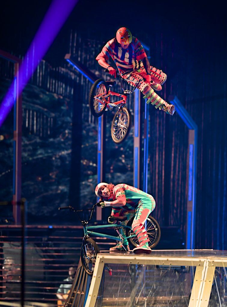 Photo of VOLTA by Cirque de Soleil, featurinig motocross and other high adrenaline street sports #cirquedusoleil #cirque #motocross #bicyclestunts #stunts #VOLTA