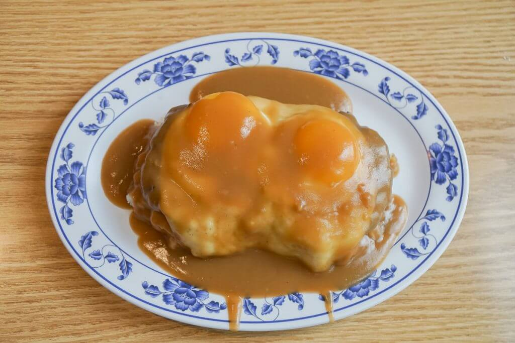 Photo of loco moco at Saimin Says in Kent, WA #visitkentwa #saiminsays #locomoco #hawaiianfood