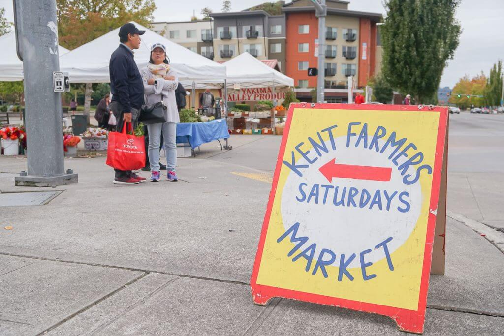 Photo of the Kent Farmers Market in Kent, WA #visitkentwa #kentfarmersmarket
