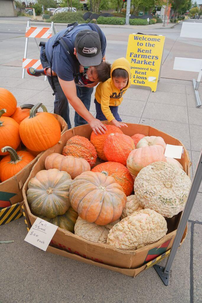 Photo of the Kent Farmers Market in Kent, WA #visitkentwa #kentfarmersmarket #pumpkins