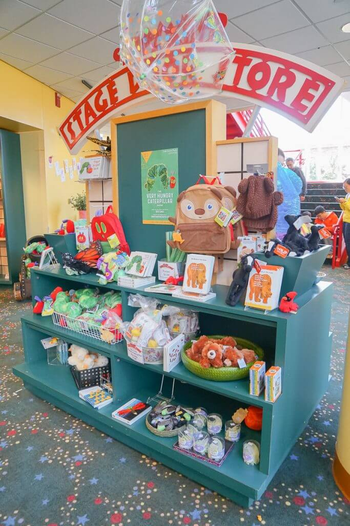 Photo of the Seattle Children's Theatre gift shop #seattlechildrenstheatre #ericcarle
