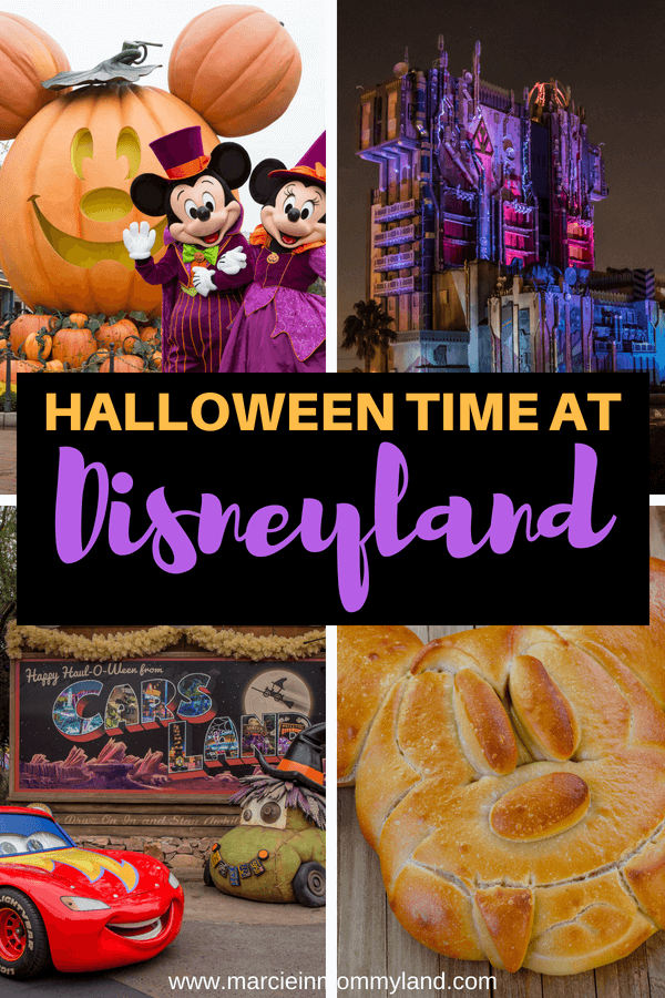 Want to celebrate Halloween at Disneyland this Fall? Find out the latest Disneyland Halloween food, attractions, characters and more! Click to read more or pin to save for later. www.marcieinmommyland.com #Disney #Disneyland #Mickey #Mickeyfood #Disneyfood #guardiansofthegalaxy #lighteningmcqueen #carsland