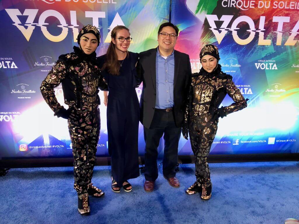 Photo of Cirque du Soleil VOLTA performers, wearing costumes by Zaldy Goco, famous for his work with Lady Gaga, Michael Jackson, Britney Spears, Gwen Stefani and for the TV show RuPaul's Drag Race. #VOLTA #cirquedusoleil #pacificnorthwest #performingarts