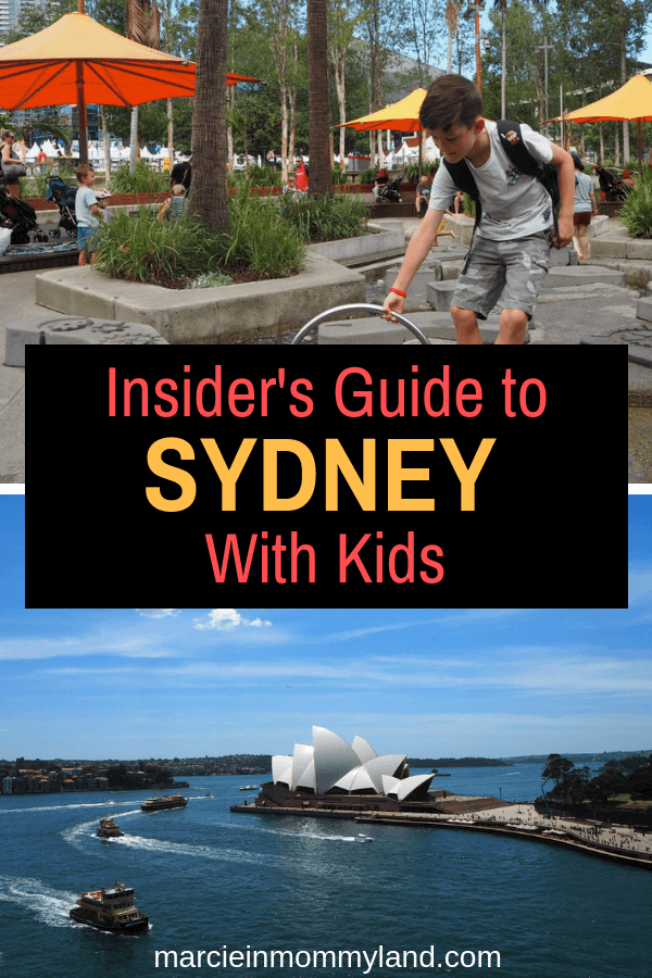 Heading to Sydney, Australia with kids? Get this insider's guide to the top kid-friendly attractions, family-friendly hotels, best places to eat with kids, and things only a Sydney local would know. Click to read more or pin to save for later. www.marcieinmommyland.com #familytravel #sydney #australia #manly