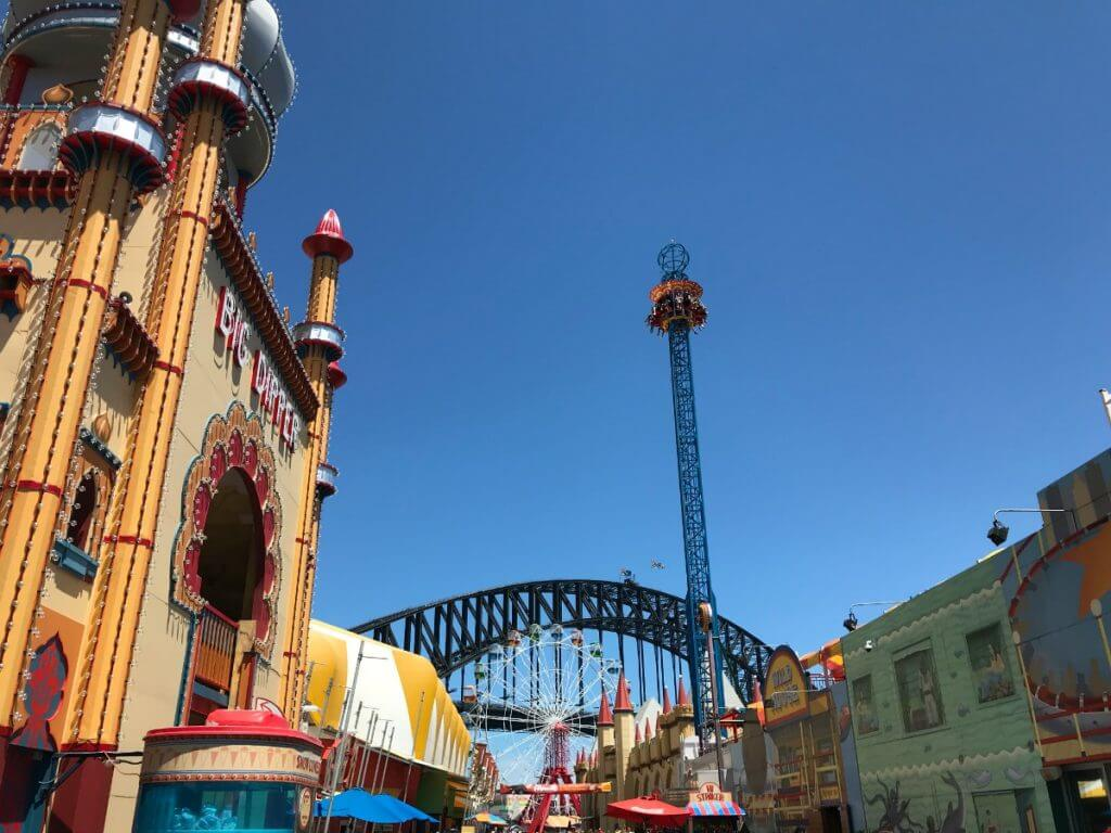 Photo of Luna Park in Sydney Australia, a top spot for traveling in Australia with kids #familytravel #australia #sydney