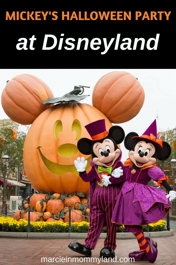 Thinking about buying tickets to Mickey's Halloween Party at Disneyland in California? Find out about what Disney costumes you can wear, what to bring to Disneyland in October, Disneyland Halloween parade, Disneyland Halloween fireworks show and more! Click to read more or pin to save for later. www.marcieinmommyland.com #disney #disneyland #mickeyshalloweenparty #halloween #disneylandhalloween