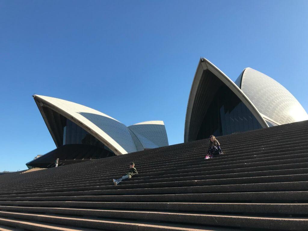 Photo of the Monumental Steps at the Sydney Opera House in Australia #familytravel #australia #sydney #sydneyoperahouse