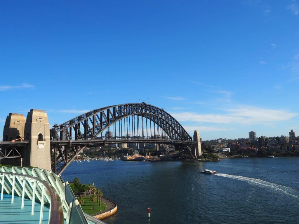 Photo of Sydney Harbour Bridge with Luna Park on the far shore #sydney #australia #familytravel #travelwithkids