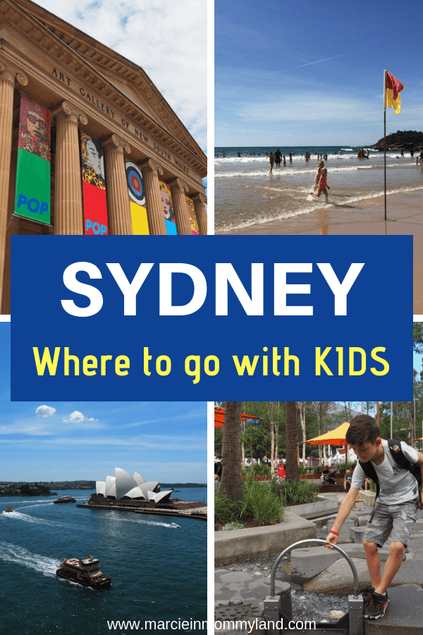 Looking for cool places to go in Sydney with kids? Find out where a local mom takes her family while explorig Sydney with kids, including where to stay, kid-friendly dining, beaches, attractions, and more! Click to read more or pin to save for later. www.marcieinmommyland.com #sydney #australia #familytravel #travelwithkids #sydneywithkids #manly