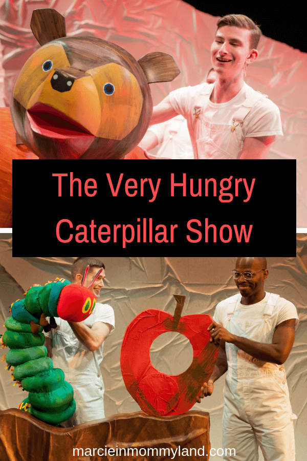 Looking for a fun show for kids in Seattle, WA? Check out Eric Carle's The Very Hungry Caterpillar Show at Seattle Children's Theatre. Click to read more or pin to save for later. www.marcieinmommyland.com #seattle #caterpillarsct #caterpillarshow