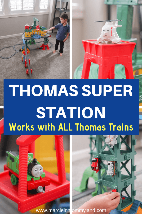 #ad Worried you'll buy the wrong train set? The Thomas Super Station works with ALL Thomas & Friends sets including Wooden Railway, TrackMaster, Thomas Adventures, & MINIS. Click to read more or pin to save for later. www.marcieinmommyland.com #thomasstationwalmart #thomasandfriends #gift