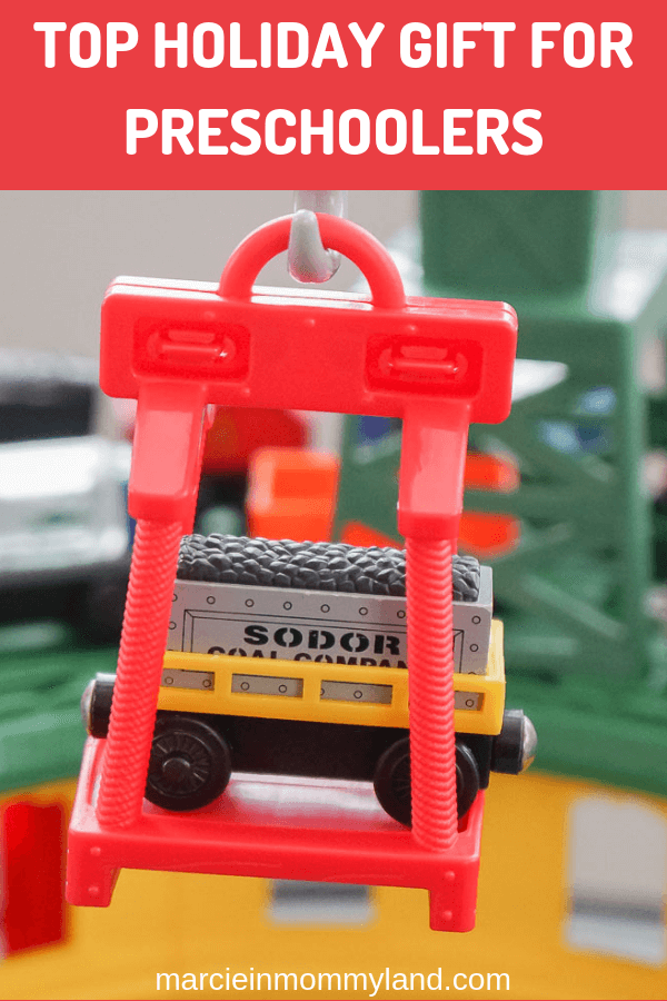 #ad One of the top holiday gifts for preschoolers this year is the Thomas Super Station, available at Walmart. With multiple configurations, it will fit in any size room. Click to read more or pin to save for later. www.marcieinmommyland.com #thomasstationwalmart #preschooler #gift #toys #trainset