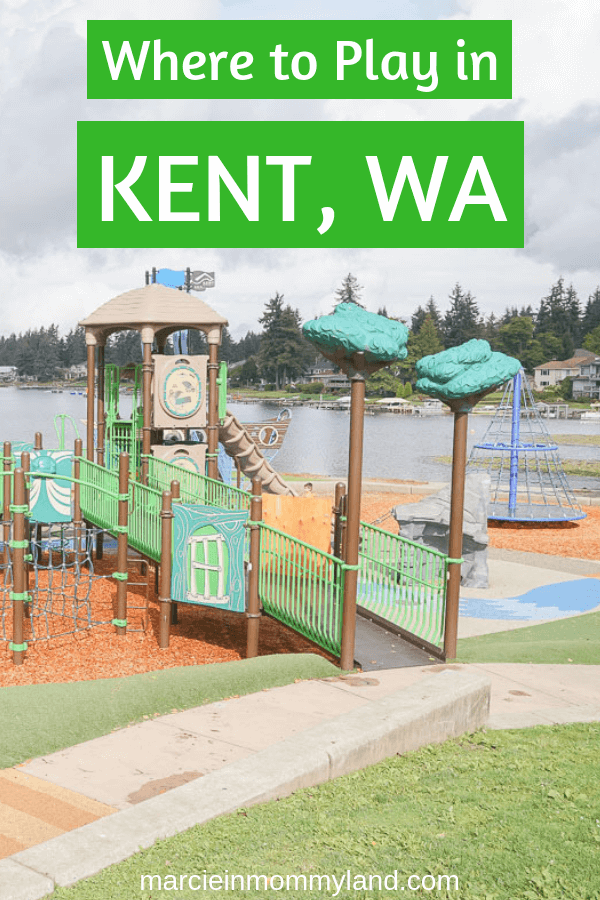 Looking for some cool playgrounds in Washington State near Seattle? Head to Kent, WA where you'll find Lake Merdian Park as well as several other amazing playgrounds for kids! Click to read more or pin to save for later. www.marcieinmommyland.com #visitkentwa #lakemeridian #playgrounds #pnw