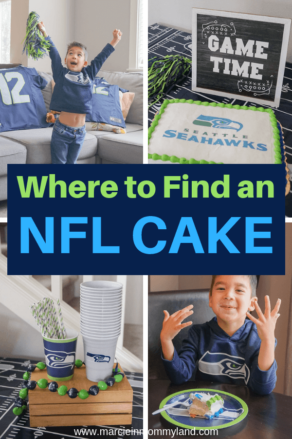 Satisfy your sweet tooth this weekend while supporting your favorite team. Find officially licensed @NFL cakes and cupcakes at a bakery near you. Click to read more or pin to save for later. www.marcieinmommyland.com #NFL #NFLCakes #NFLCupcakes #seahawks #seattleseahawks #footballparty #footballsnacks @decopac