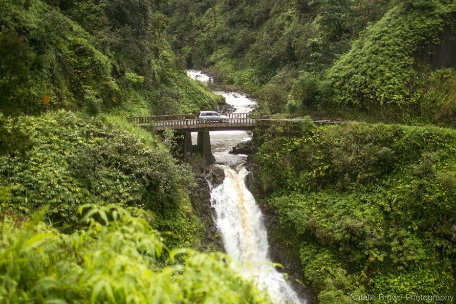 A Complete Travel Guide to Maui with Kids featured by top Hawaii travel blog, Hawaii Travel with Kids: Photo of the Road to Hana on Maui, Hawaii #maui #roadtohana #hawaii