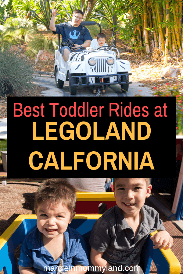 Heading to LEGOLAND and wondering what the best LEGOLAND rides for toddlers are? Get my complete list now or pin to save for later. www.marcieinmommyland.com #LEGOLANDCA #themepark #familytravel #toddlertravel