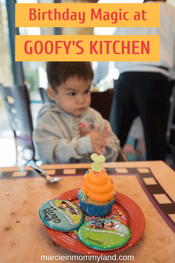 Celebrating a birthday at Disneyland? See what Pixie Dust you'll get at the Goofy's Kitchen character breakfast at the Disneyland Hotel. Click to read more or pin to save for later. www.marcieinmommyland.com #Disneyland #GoofysKitchen #characterbreakfast