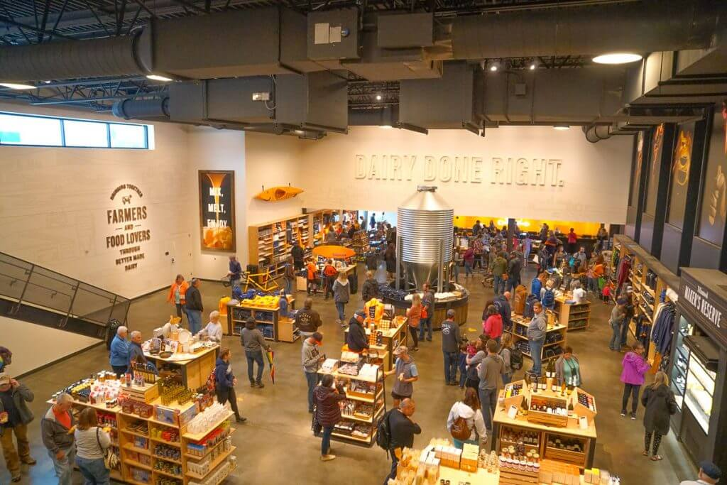 Photo of the Tillamook Creamery gift shop, which sells, cheese, ice cream, toys, clothing, and so much more! #tillamook #tillamookcreamery #cheese #dairy #oregoncoast