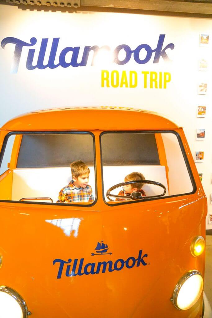 Photo of the Tillamook Creamery yellow van photo op in Tillamook, Oregon #oregon #pnw #tillamook #tillamookcreamery
