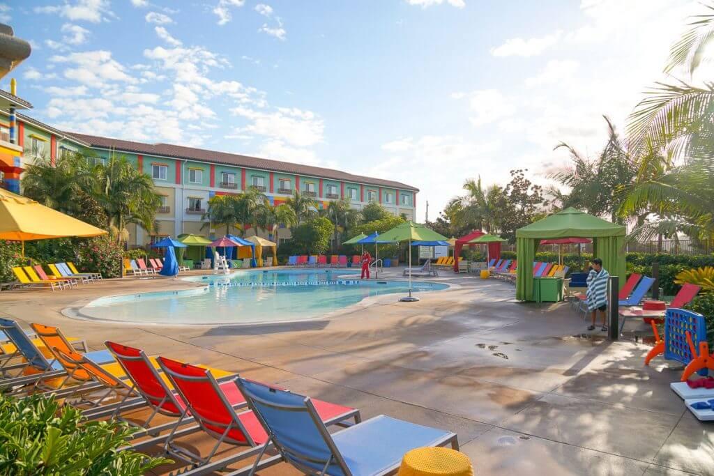 Photo of the swimming pool at the LEGOLAND Hotel in Carlsbad, CA #legoland #legolandhotel #carlsbad #california