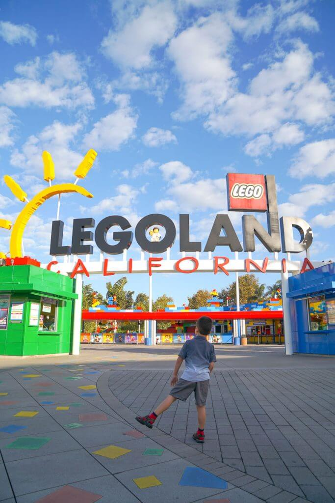Photo of the entrance to LEGOLAND California in Carlsbad, CA outside of San Diego #legoland #legolandca #legolandcalifornia
