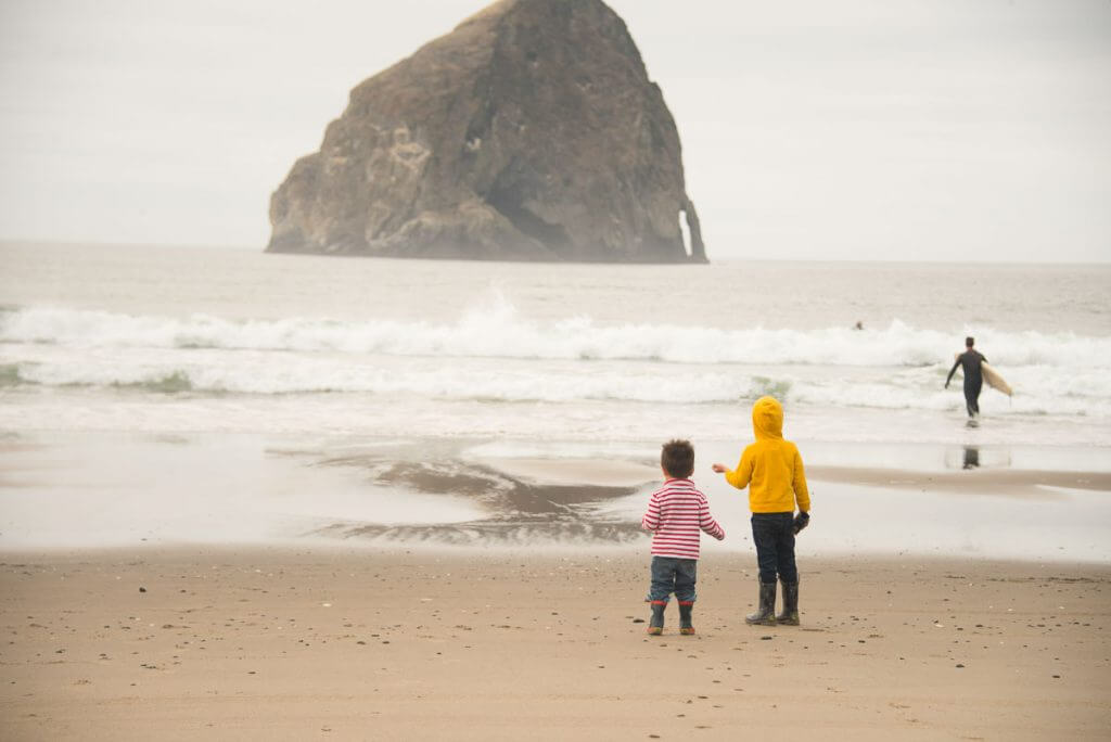 Photo of Haystack Rock in Pacific City on the Oregon Coast #pnw #pacificnorthwest #oregoncoast #haystackrock