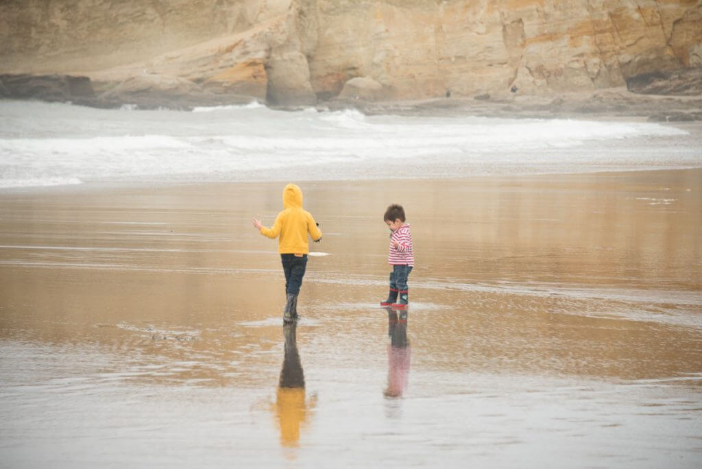 Photo of the beach at Pacific City on the Oregon Coast | weekend getaways oregon