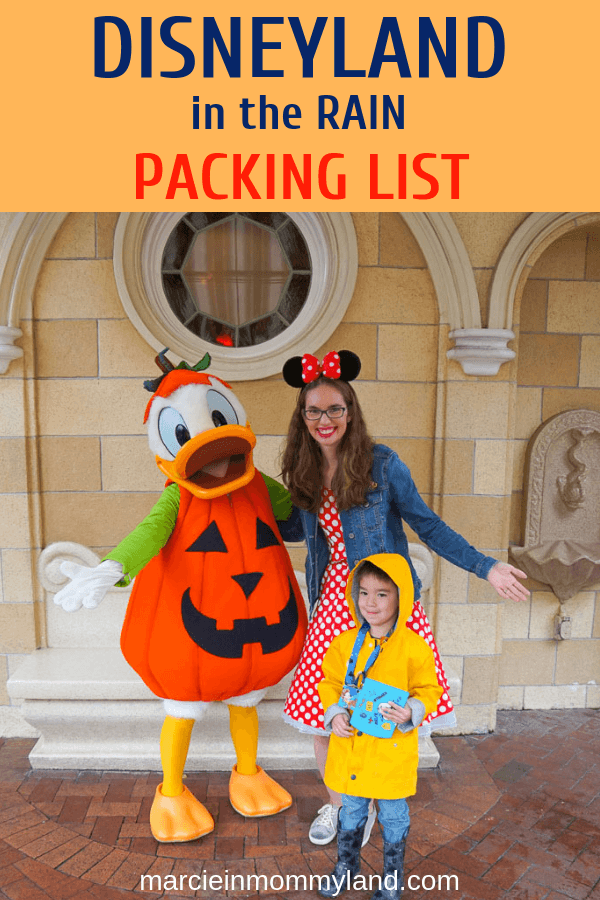 Are you panicking about what to do when it rains at Disneyland? See what to pack to stay dry at Disneyland in the rain. Click to read more or pin to save for later. www.marcieinmommyland.com #disneyland #disneysmmc #DLR