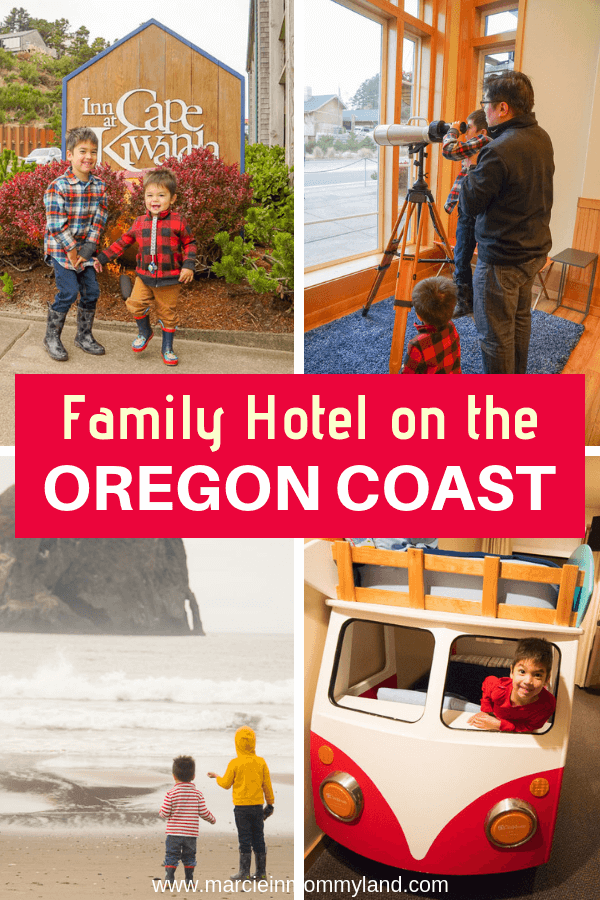 Finding the right kid-friendly hotel on the Oregon Coast can be tough. See why your kids will love the Inn at Cape Kiwanda in Pacific City! Click to read more or pin to save for later. www.marcieinmommyland.com #oregon #oregoncoast #innatcapekiwanda #pacificnorthwest