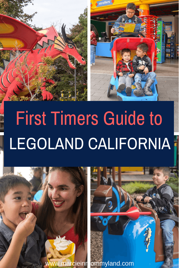First trip to LEGOLAND California? Get my top LEGOLAND tips for where to stay, where to eat, and how many days you'll need. Click to read more or pin to save for later. www.marcieinmommyland.com
