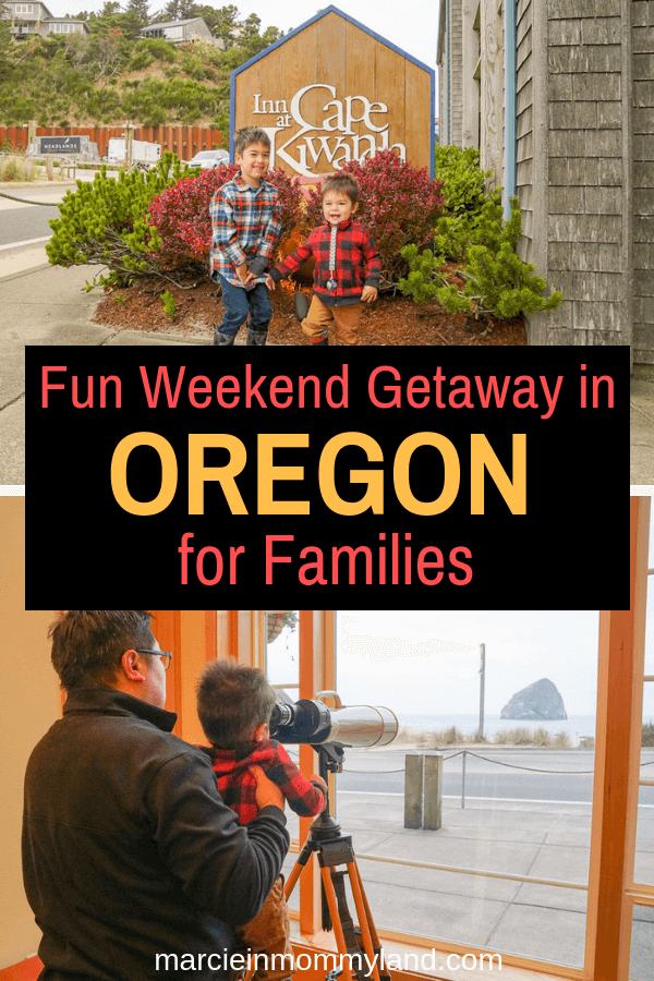 Looking for a fall getaway in the Pacific Northwest? The Inn at Cape Kiwanda on the Oregon Coast is perfect for families! Click to read more or pin to save for later. www.marcieinmommyland.com #pacificnorthwest #pnw #oregon #oregoncoast #oregonhotel