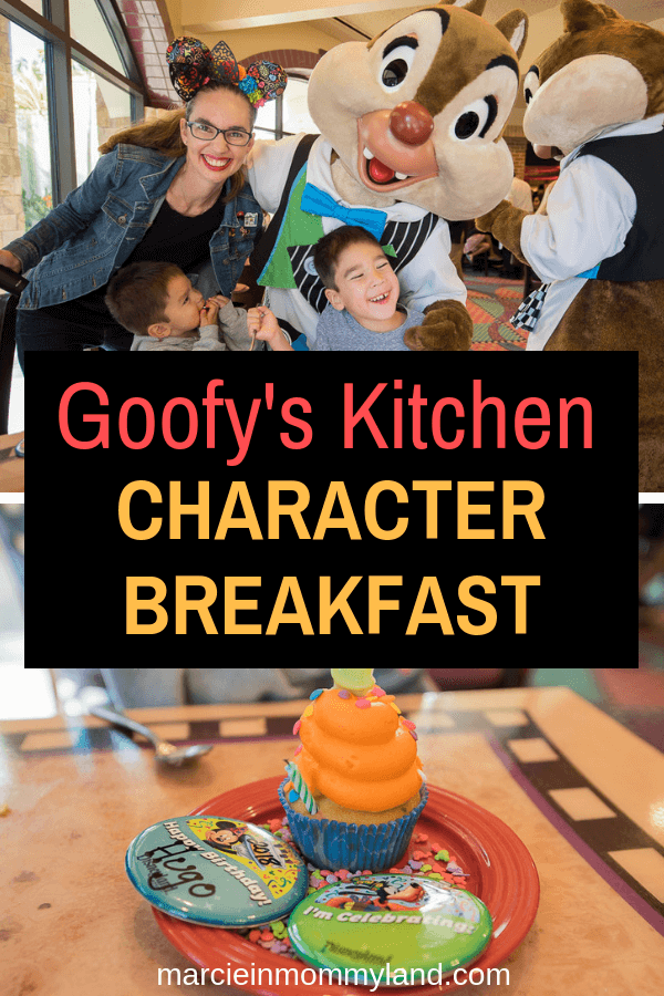 Get my top tips for the Goofy's Kitchen character Breakfast at the Disneyland Resort in California. Click to read more or pin to save for later. www.marcieinmommyland.com #Disneyland #GoofysKitchen #characterbreakfast
