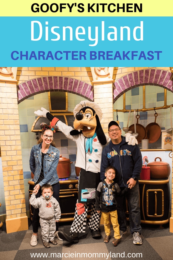 Heading to Disneyland California? Don't forget to stop at Goofy's Kitchen character breakfast to hang with your favorite Disney pals! Click to read more or pin to save for later. www.marcieinmommyland.com #Disneyland #GoofysKitchen #characterdining #disneysmmc