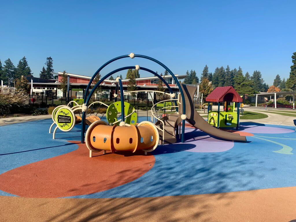 Photo of Meadow Crest Park, an inclusive playground near Seattle #inclusiveplayground #playground #washington #seattle